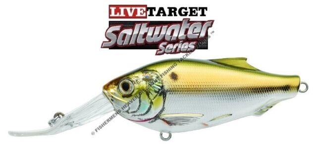 """Live Target Saltwater Cigar Minnow Jerkbait CMJ115S962 Pearl Blue 4.5/"""""""
