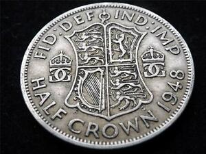 GeorgeVI Half-Crown 1948 coin .