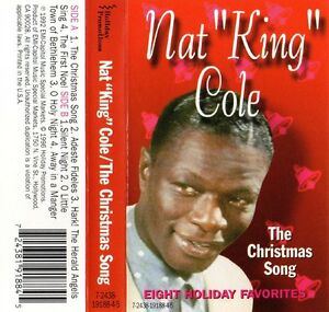 """NAT KING COLE """"THE CHRISTMAS SONG"""" CASSETTE 1992 holiday 