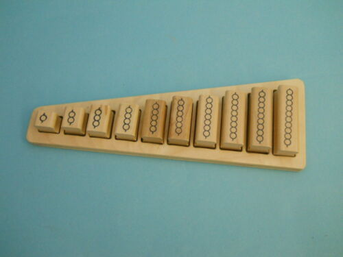 Montessori Bead Bar Mathematics Teaching System wood mounted rubber stamps