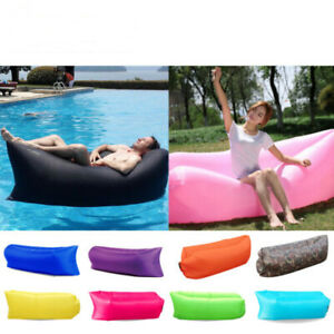 Miraculous Details About Inflatable Air Sofa Bed Lazy Sleeping Beach Chair Hangout Camping Lounger Pabps2019 Chair Design Images Pabps2019Com