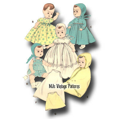 "Vtg Baby Doll Clothes Pattern 11/"" 12/"" Toodles Tiny Tears Betsy Wetsy Dy Dee"