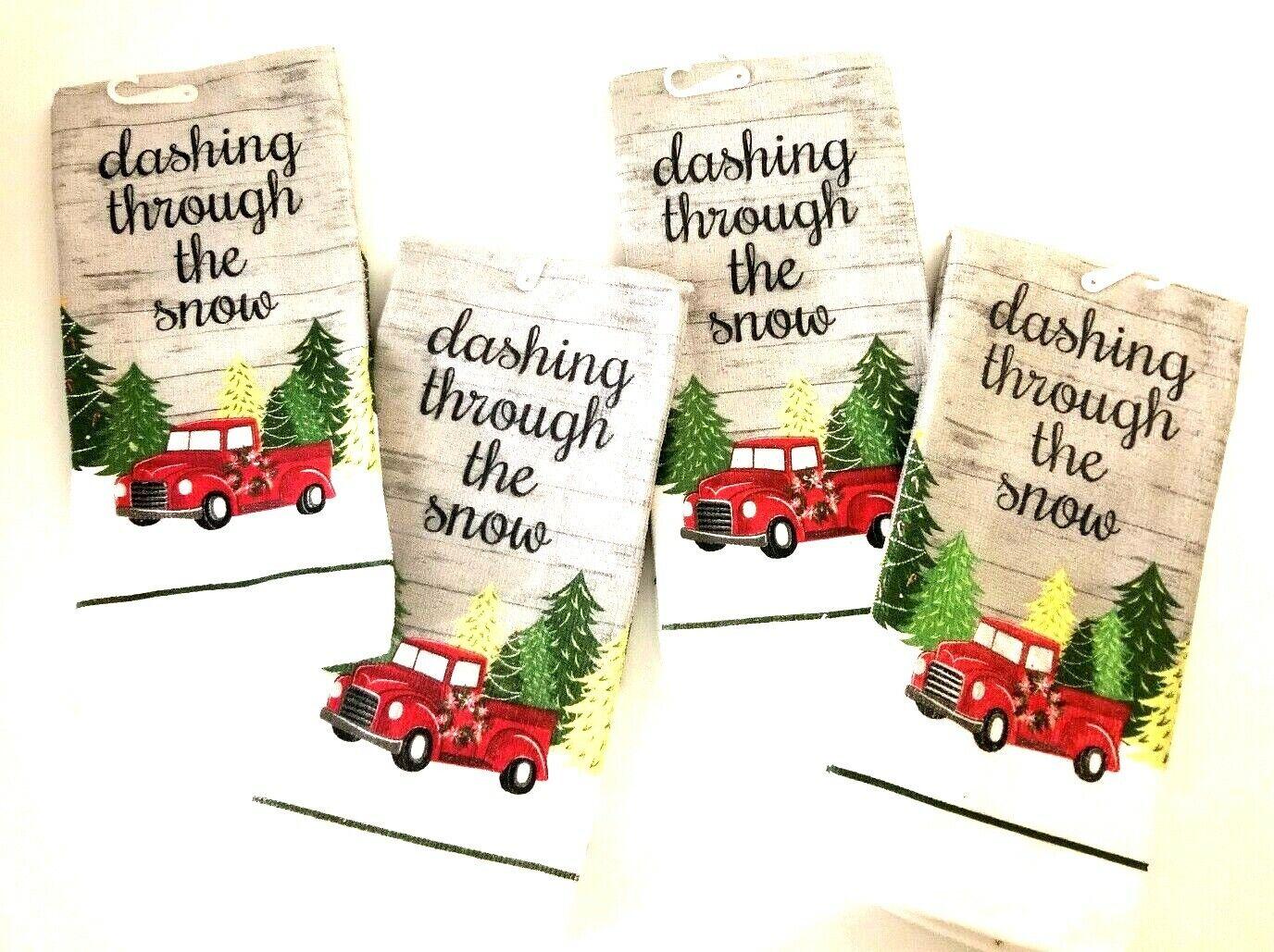 4 Vintage Farmhouse Red Truck Christmas Tiendamia Com