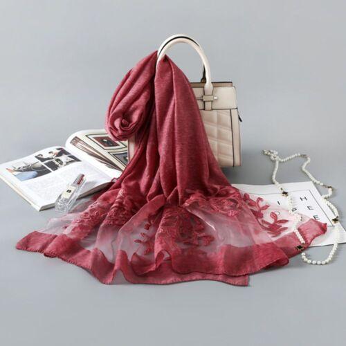 Silk Organza Scarf Long Warm Winter Scarf Women Fashion Print Shawl Pashmina