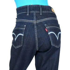 Levi-s-529-Curvy-Skinny-Leg-Jeans-Pants-Womens-31x32-12-L-Embroidered-Slimming