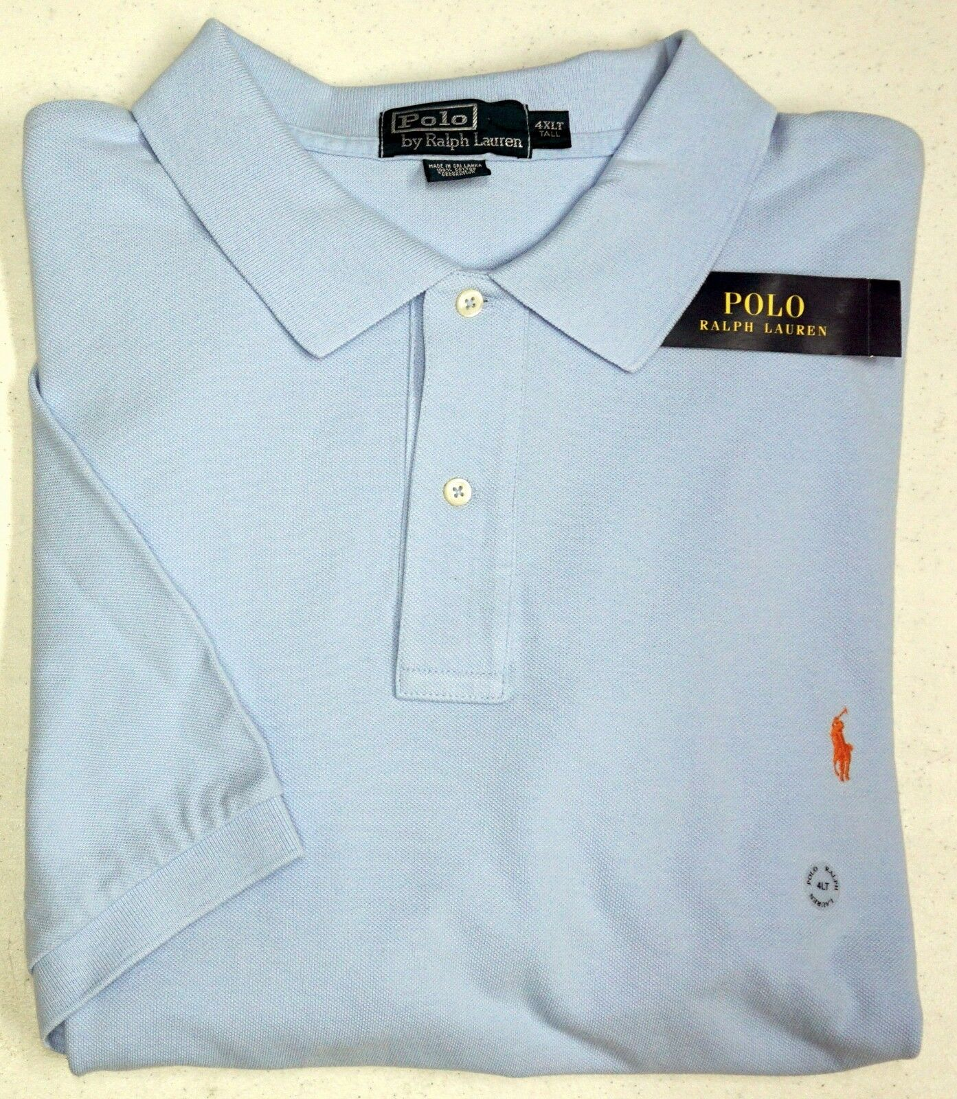 NWT  POLO Ralph Lauren SS Mesh Shirt Mens XLT 4XLT Light bluee NEW