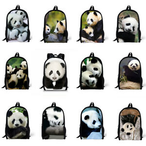Details about Cute Panda Women Backpack Shoulder School Travel Girls Laptop Bookbag Rucksack