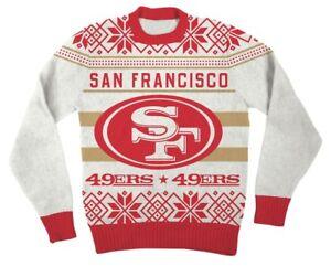 4c9dd09d299 NFL San Francisco 49ers Logo Adult Red Football Ugly Christmas ...