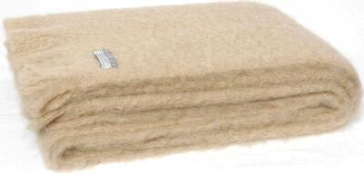 Masterweave Windermere Mohair Throw Rug Blanket in Cream