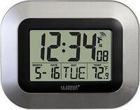La Crosse Technology Wt-8005u-s Atomic Digital Wall Clock With Indoor Tempera...