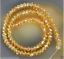 New 4x6mm Faceted Yellow Rainbow AB Crystal Beads 100pcs