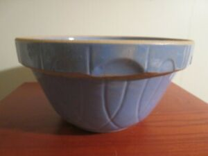 Vintage-Stoneware-Pottery-Crock-Mixing-Bowl-Oven-Ware-USA-9
