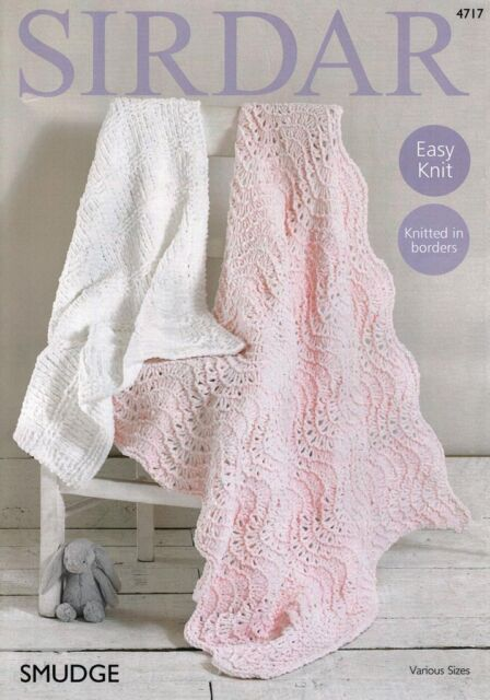 Sirdar Knitting Pattern Baby Blankets Smudge Chunky ...