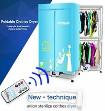 Portable Clothes Dryer 1200W Electric Laundry Drying Rack 33 LB - Remote Control