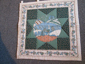 """Quilted Wall Hanging Hand Made 17-1/2"""" x 17-1/2"""" with Tabs"""