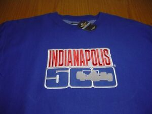 NEW-INDIANAPOLIS-INDY-500-STITCHED-BLUE-SWEATSHIRT-MENS-S-M-COTTON-POLYESTER