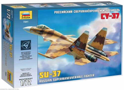 ZVEZDA 7241 RUSSIAN FIGHTER SUKHOI SU-37 SCALE MODEL KIT 1//72 NEW