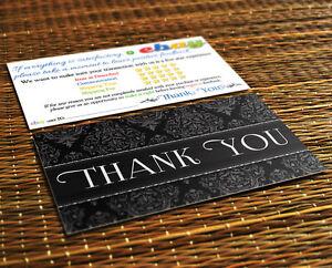 Image Is Loading 50 Thank You Ebay Er Business Cards 5