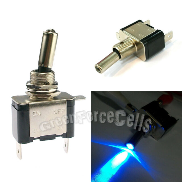 1 pc Car Boat Light LED ON/OFF Toggle Switch DC 12V 20A SPST Control Blue Color
