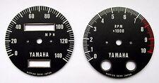 YAMAHA XS1 XS2 XS650 SPEEDO TACHO REV COUNTER GAUGE CLOCKS DIAL FACE OVERLAYS