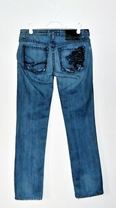 25ff8fdc5 People's Liberation Tommy Lee Distressed Ultra Low Blue Jeans Sz 26 ...