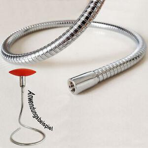 Lichthalterschlauch-Schwanenhals-Messing-Chrom-10x400mm-flexibel-formbar