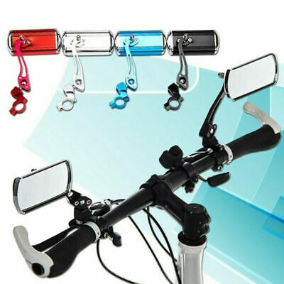 1 Pair Bicycle Cycling Bike Handlebar Flexible Back Rear View Safety Mirror Wide