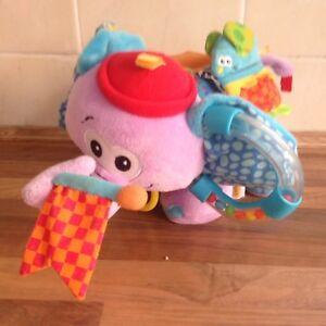 FidèLe Elephant Sensorielle Teddy Bear-sons, Touch, Couleurs, Formes-afficher Le Titre D'origine