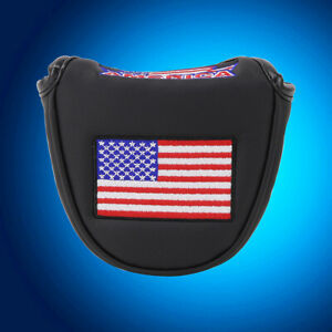 USA-AMERICA-MALLET-BLACK-Putter-Cover-Headcover-For-Scotty-Cameron-Odyssey-2ball