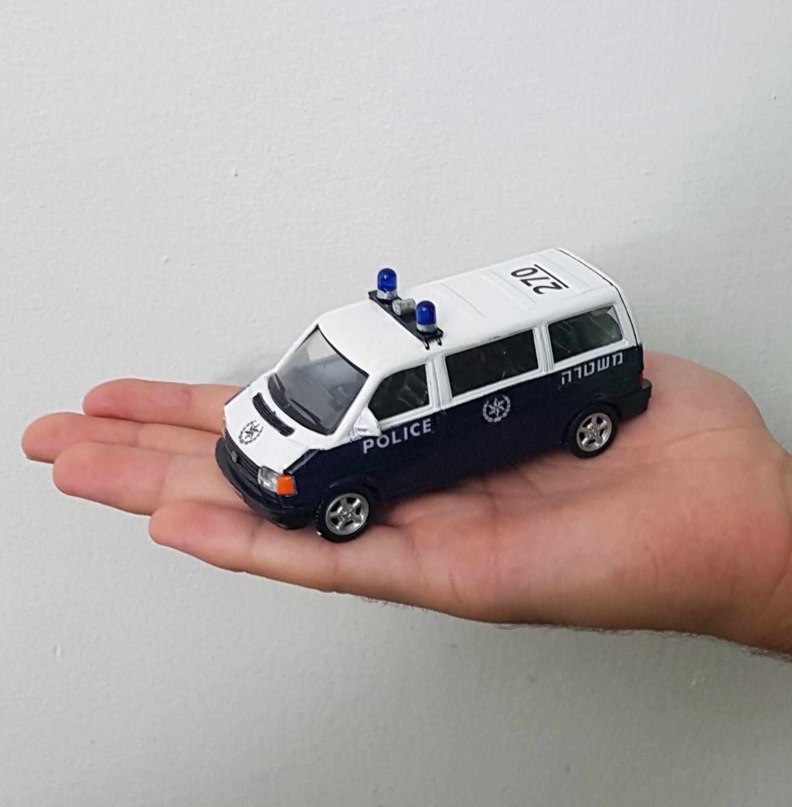 muy raras Israel policía coche modelo Volkswagen Transporter escala 143 Mejor Regalo