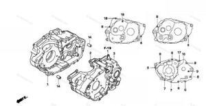 HONDA TRX400EX 400EX Stainless Steel CRANKCASE bolt kit fourtrax  POLISHED SET