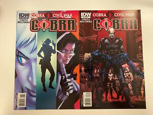 IDW-G-I-JOE-COBRA-CIVIL-WAR-ISSUE-6-NM-CONDITION-A-RI-COVERS