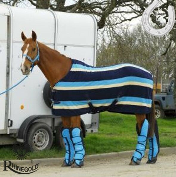 Rhinegold Elite Ripstop Full Length Travel Boots – PONY – TURQUOISE NAVY