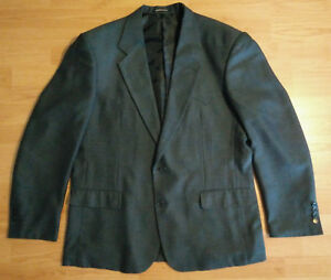 Panhandle Slim Blazer Mens 46L 2 Button Herringbone Western Wear Vintage Blue