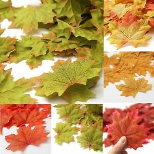 100-1000X-Artificial-Maple-Fall-Autumn-Leaves-Foliage-Favor-Wedding-Decorations