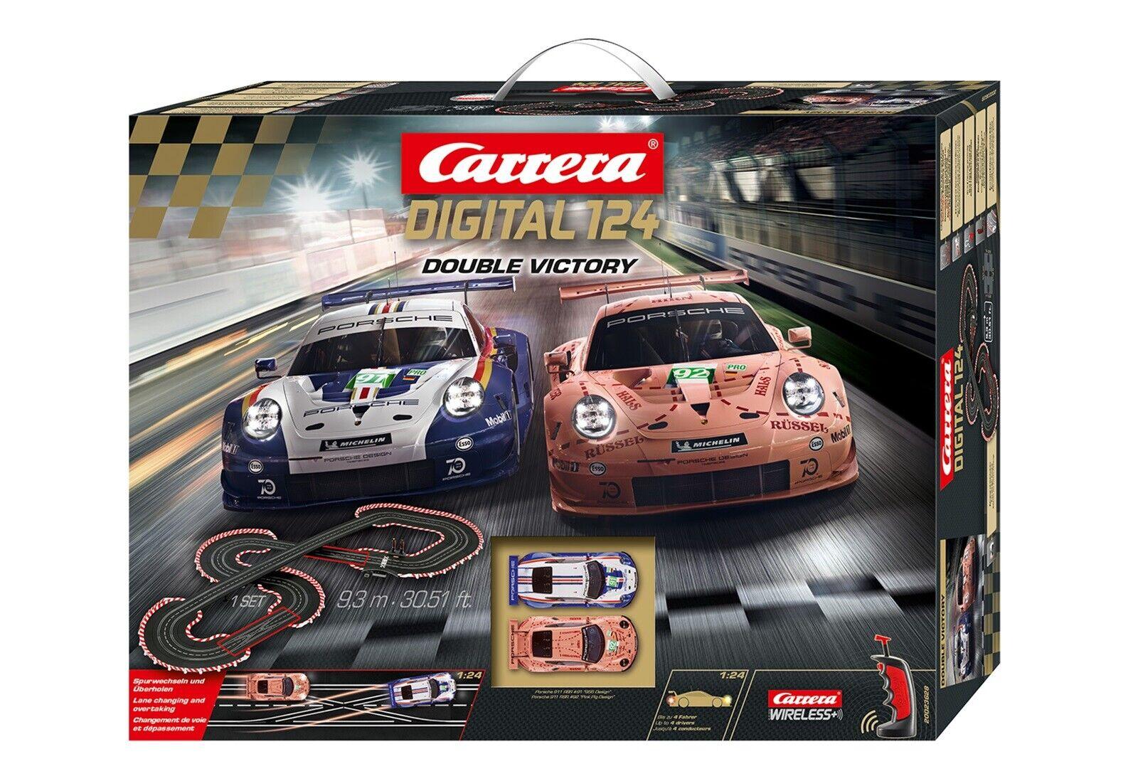 Carrera 23628 Digital 124 Double Victory NEU OVP