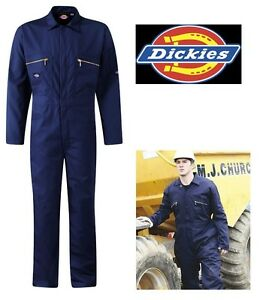 Dickies Royal Blue Redhawk Coverall WD4839 Zip Front Overalls Boiler Suit