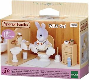 SYLVANIAN FAMILIES TOILET SET KIDS TOY