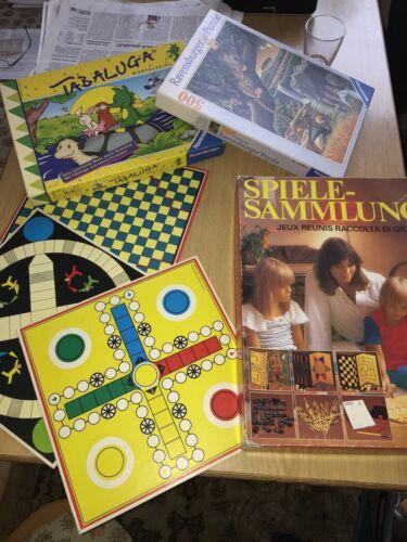 Spielesammlung 15 Spiele Brettspiele Puzzle Würfeln Mikado Tabaluga Mensch ... Puzzles & Geduldspiele