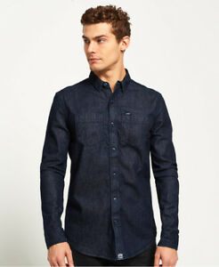 45c10c5ff9 Image is loading New-Mens-Superdry-Rookie-Loom-Riveter-Shirt-Raw-
