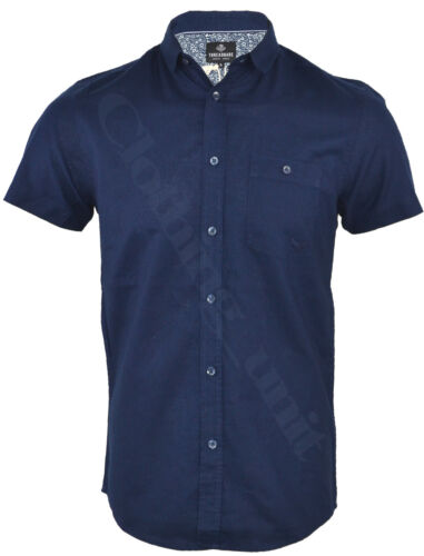 Mens Shirts Threadbare Linen Chambray Long Short Sleeved Polo Casual Summer S-XL