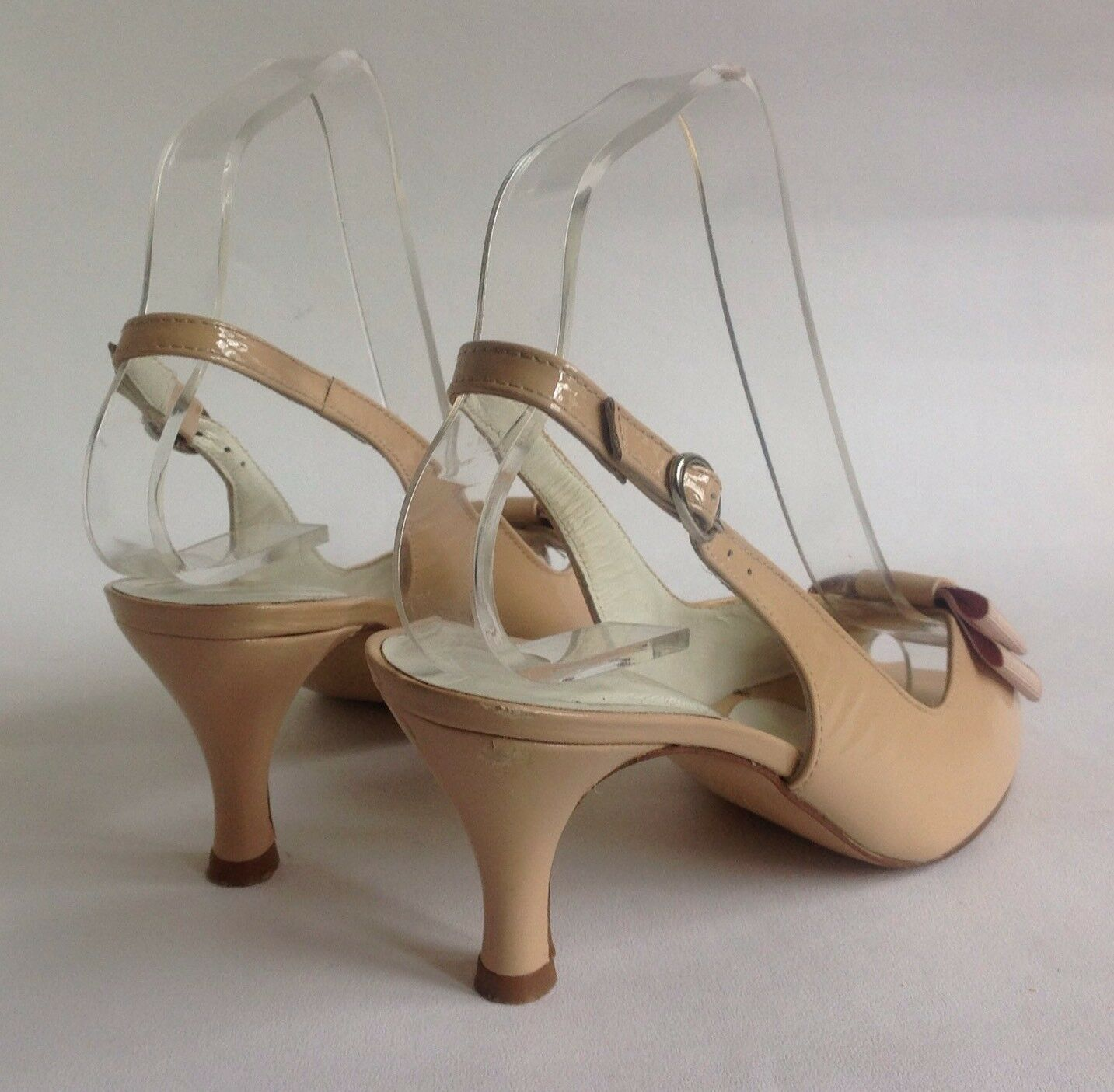 Russell Sandal & Bromley Open Shoe Sandal Russell Nude Patent Leather Slingback 3