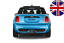 Mini M3 Style ROOF Extension Lip Spoiler  AERODYNAMIC wing sport spoiler