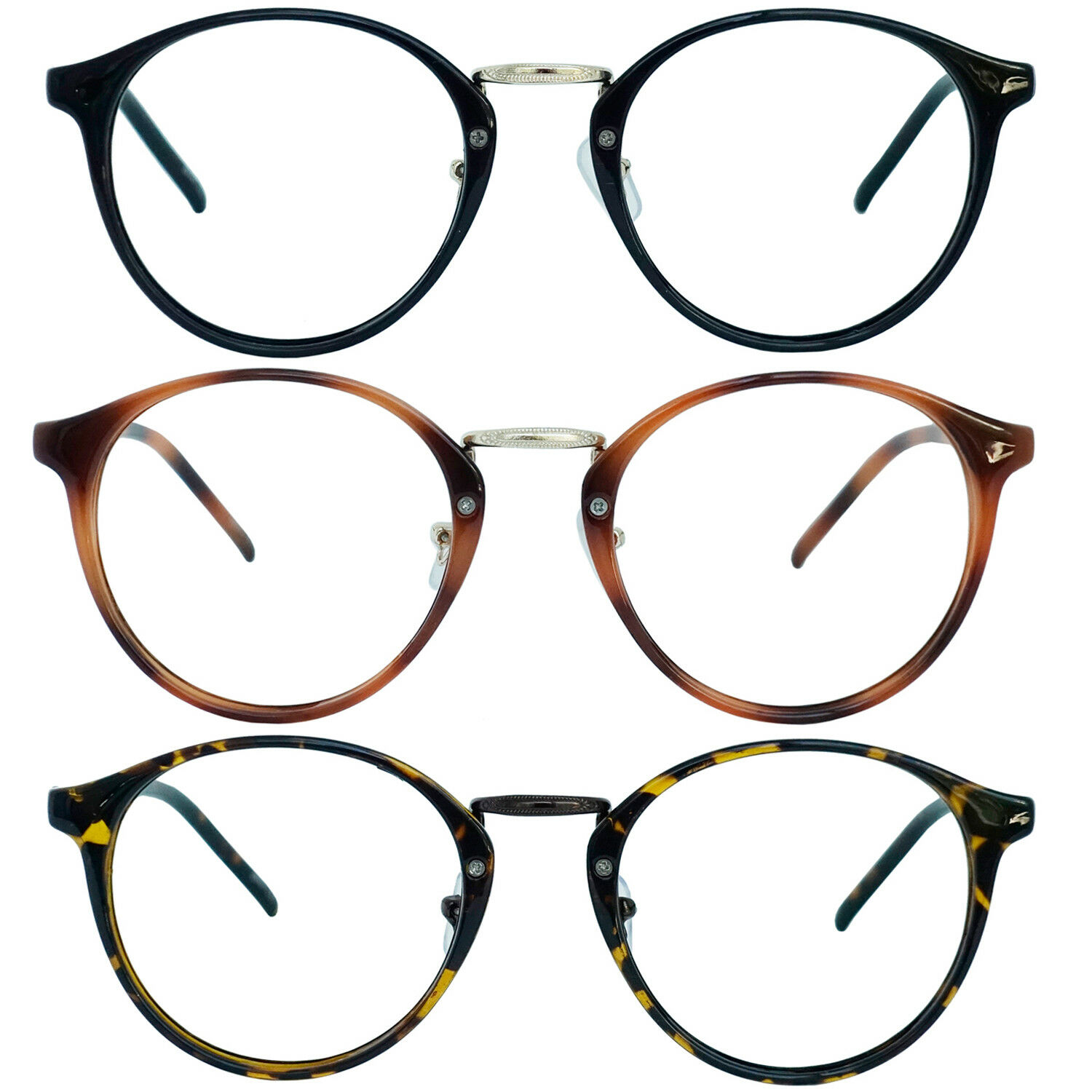 0b6649d805a Retro Oval Round Clubmaster Reader Reading Glasses For Men and Women ...