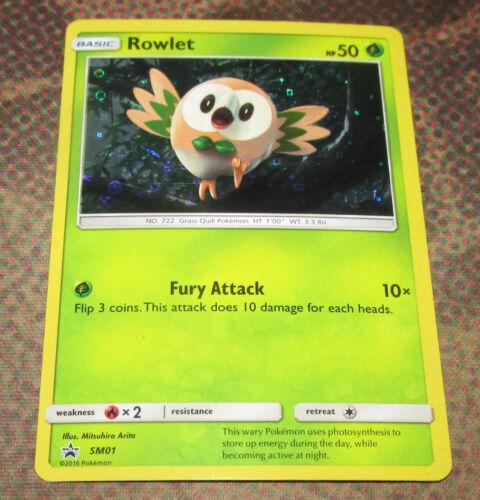 Rowlet SM01 Black Star Promo Alternate HOLO General Mills Promo Pokemon Card NM