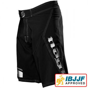 NEW-Nogi-Volt-Rank-Grappling-Shorts-Black-Jiu-Jitsu-BJJ-MMA-UFC-Martial-Art