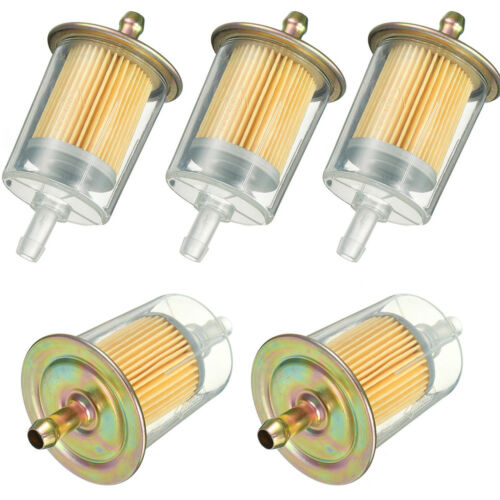 """5X 3//8/"""" Fuel Filters Industrial High Performance 5Universal Inline Gas Fuel Line"""