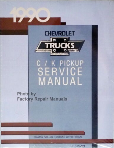 1990 Chevy Pickup Truck C K 1500 2500 3500 Factory Shop Service Manual Reprint
