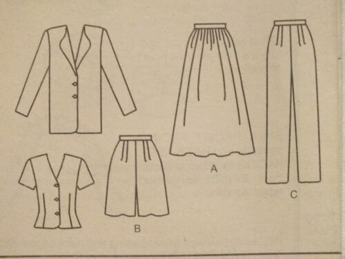 OOP BUTTERICK 4504 Jacket top Skirt Shorts Pants PATTERN 12-14-16//18-20-22 UC