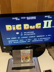 100-WORKING-NINTENDO-NES-RARE-FUN-ARCADE-CLASSIC-Game-Cartridge-DIG-DUG-2